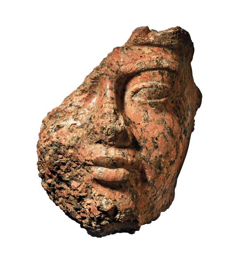 A fragmentary Egyptian red granite portrait head of Amenhotep III, New Kingdom, 18th dynasty, circa 1390-1353 BC. 9⅝  in (24.4  cm) high. Estimate £700,000-1,000,000. Offered in The Exceptional Sale  on 4 July 2019 at Christie's in London