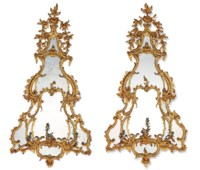A PAIR OF GEORGE II GILTWOOD G
