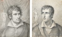 Portrait of Antonio Canova (i); and Portrait of Bertel Thorvaldsen (ii)