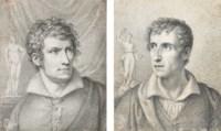 Portrait of Antonio Canova (i); and Portrait of Bertel Thorvaldsen (ii)