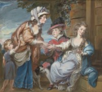 The fortune teller: four children of Andrew Grote, Frances (1760-1833), George (1762-1830), Charlotte (1763-1787), and Caroline (1773-1817)