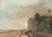 The North Terrace of Windsor Castle, looking east at sunrise
