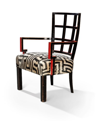 A BLACK AND RED LACQUERED SMAL