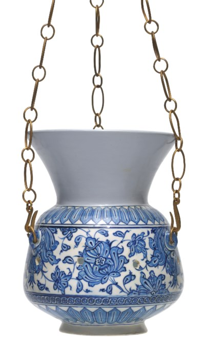 A RARE EARLY IZNIK MOSQUE LAMP