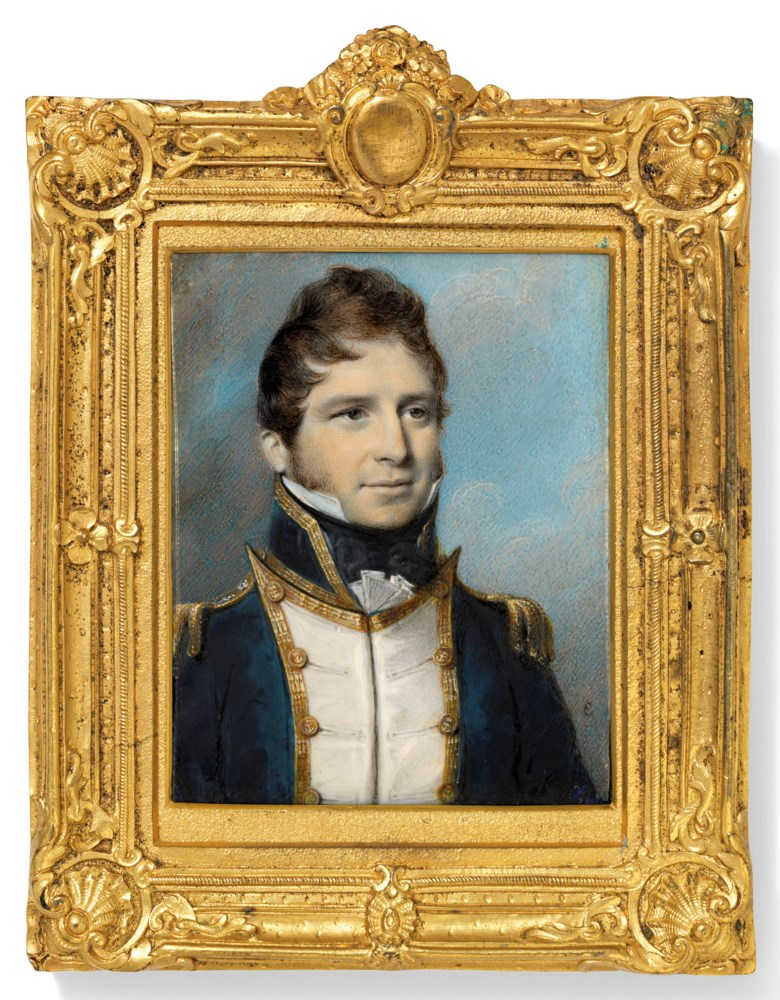 George Engleheart (British, 175052-1829). Admiral Thomas Cochrane, 10th Earl of Dundonald (1775-1860). Offered in The Collector English Furniture, Works of Art and Portrait Miniatures on 22 May 2019 at Christie's in London