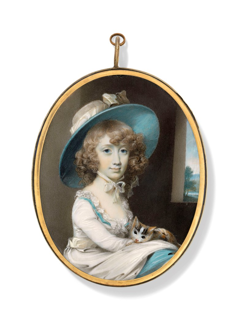 George Engleheart (British, 175052-1829). Melicent Dillman Engleheart (1775-1796), niece of the artist. Estimate £15,000-25,000. Offered in The Collector English Furniture, Works of Art and Portrait Miniatures on 22 May 2019 at Christie's in London