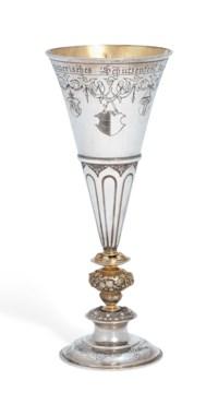 A SWISS PARCEL-GILT SILVER CUP