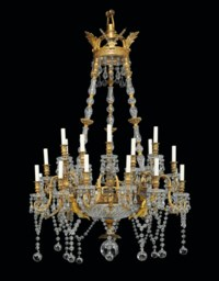 A FRENCH ORMOLU AND CUT-GLASS TWENTY-FOUR LIGHT CHANDELIER