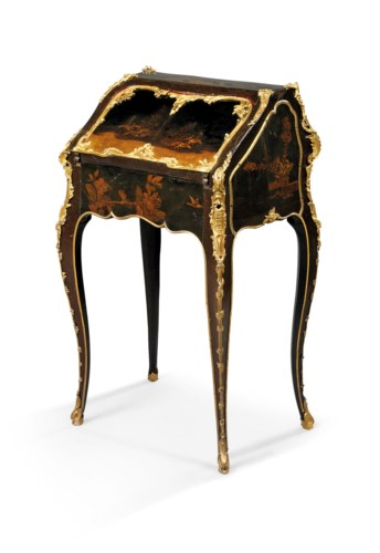 A LOUIS XV ORMOLU-MOUNTED JAPA