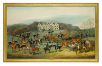 The meet of the Hambledon hounds at Preshaw House, Hampshire, the seat of Walter Long in 1844