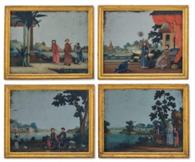 A SET OF FOUR CHINESE EXPORT R