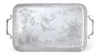 A VICTORIAN AESTHETIC MOVEMENT SILVER TRAY