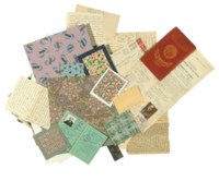 A collection of eighty-seven textile designs, some by the artist's stepson Pierre Ino