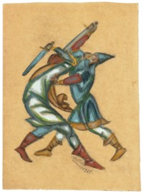 The fight; and Gusli player