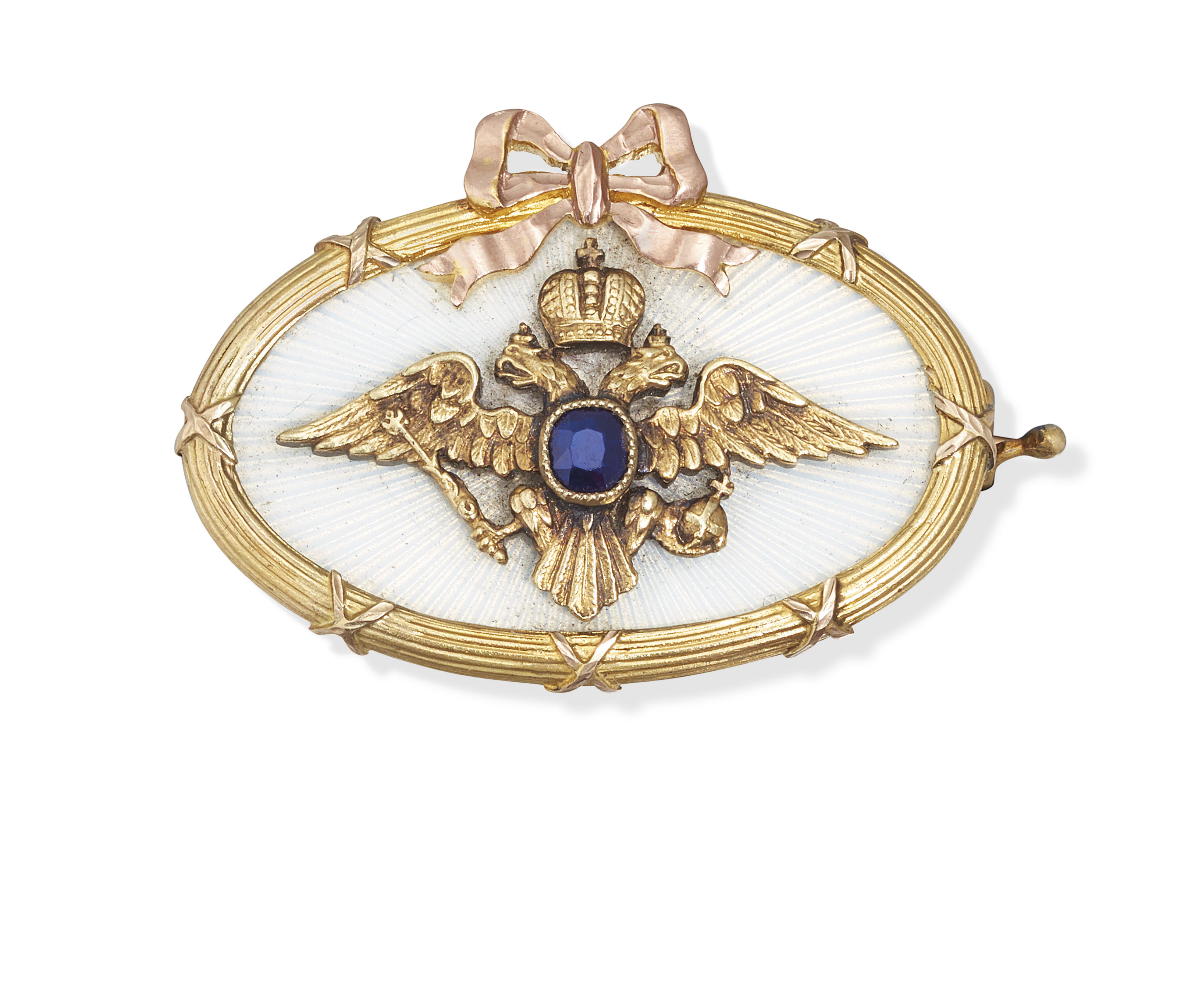 A JEWELLED AND GUILLOCHÉ ENAME