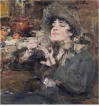 The Manicure. Portrait of Mademoiselle Girmond