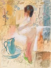 Jeune femme à sa toilette