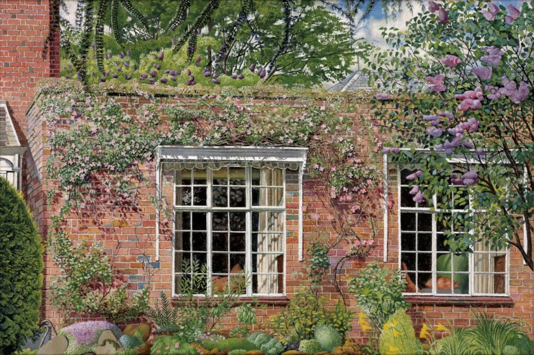 Sir Stanley Spencer, R.A. (1891-1959), Lilac and Clematis at Englefield, 1955. Dimensions 20 x 30  in (50.8 x 76.2  cm). Estimate £500,000-800,000. Offered in Modern British Art Evening Sale on 17 June 2019 at Christie's in London