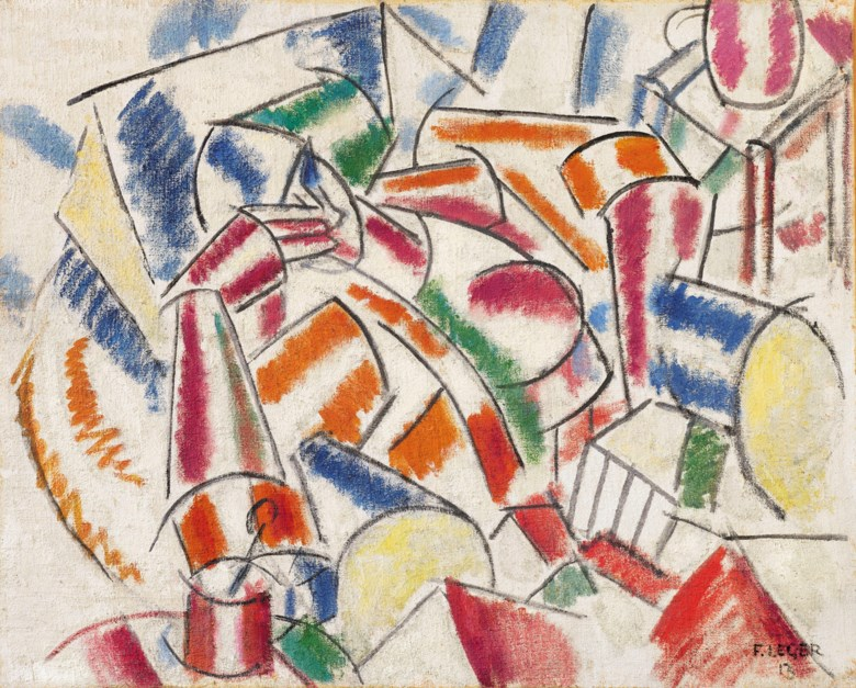Fernand Léger (1881-1955), Femme dans un fauteuil, 1913. Oil on burlap. 31⅞ x 39⅜  in (81 x 100 cm). Estimate on request. Offered in Impressionist and Modern Art Evening Sale on 18 June 2019 at Christie's in London © Fernand Leger, DACS 2019