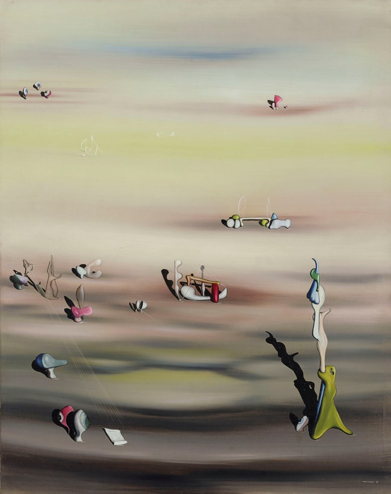Yves Tanguy (1900-1955), L'Extinction des espèces II, 1938. Oil on canvas. Dimensions 36¼ x 28¾  in (92 x 73  cm). Estimate £2,500,000-4,000,000. Offered in Impressionist and Modern Art Evening Sale on 18 June 2019 at Christie's in London