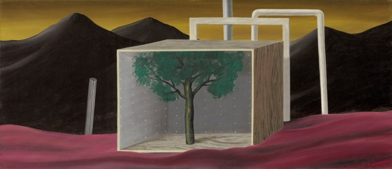 René Magritte (1898-1967), Le parc du vautour, 1926. Oil on canvas. Dimensions 25⅜ x 59  in (64.5 x 149.8  cm). Estimate £2,500,000-4,000,000. Offered in Impressionist and Modern Art Evening Sale on 18 June 2019 at Christie's in London