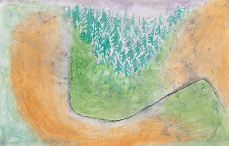 Paul Klee (1879-1940), Voralpine Landschaft, 1937. Oil on paper. Dimensions 7 x 10⅞  in (17 x 27.5  cm). Estimate £55,000-75,000. Offered in Impressionist and Modern Works on Paper on 19 June 2019 at Christie's in London