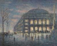 Paris, la place du Théâtre du Châtelet
