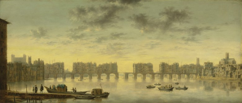 Claude de Jongh (Utrecht c. 1600-1663), Old London Bridge. 17⅛ x 40  in (43.4 x 101.5  cm). Sold for £1,091,250 on 4 July 2019 at Christie's in London