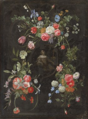 Frans Ykens (Antwerp 1601-c. 1692), the cartouche painted by