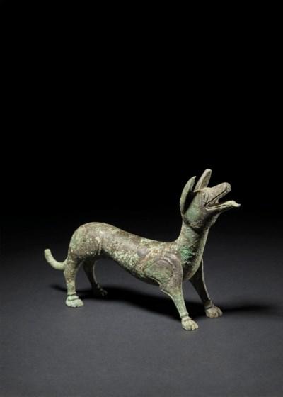 A ROMANO-BRITISH BRONZE DOG