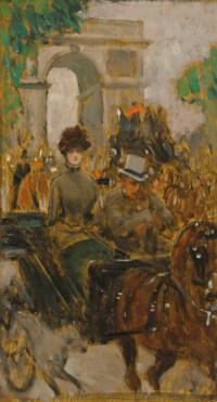 Carriage on the Avenue du Bois, Paris