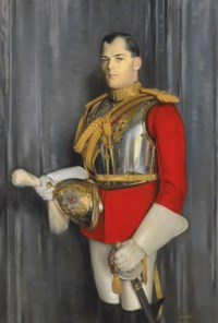 Portrait of Sir Maurice John Pierce Lacy, 2nd Bt. (1900-1965), in the uniform of the Life Guards