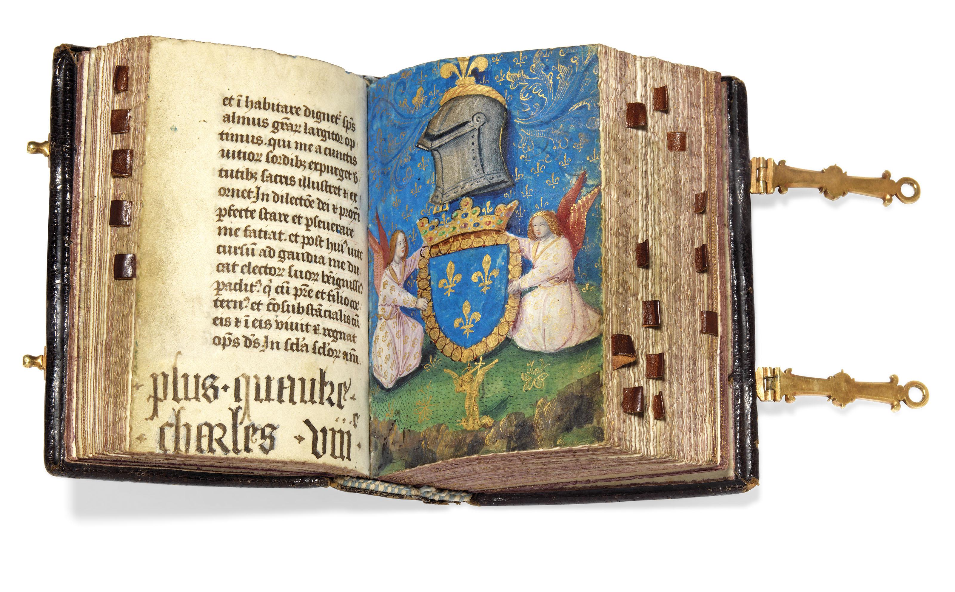 PETITES HEURES OF CHARLES VIII, use of Paris, in Latin, illuminated...