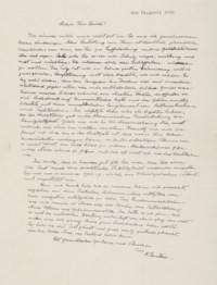 EINSTEIN, Albert (1879-1955). Autograph letter signed ('A. Einstein') to Walter Leich, n.p., 24 April 1950.