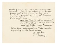 TOLKIEN, John Ronald Reuel (1892-1973). Two autograph letters signed ('JRRT' and 'JRR Tolkien') to Jonathan Hepworth and to his father, [Oxford], 18 December 1963.