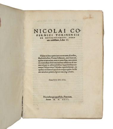 Nicolaus Copernicus (1473-1543). De revolutionibus orbium coelestium, Nuremberg, 1543. (255 x 190mm). Estimate £500,000-700,000. Offered in Valuable Books and Manuscripts on 10 July 2019 at Christie's in London