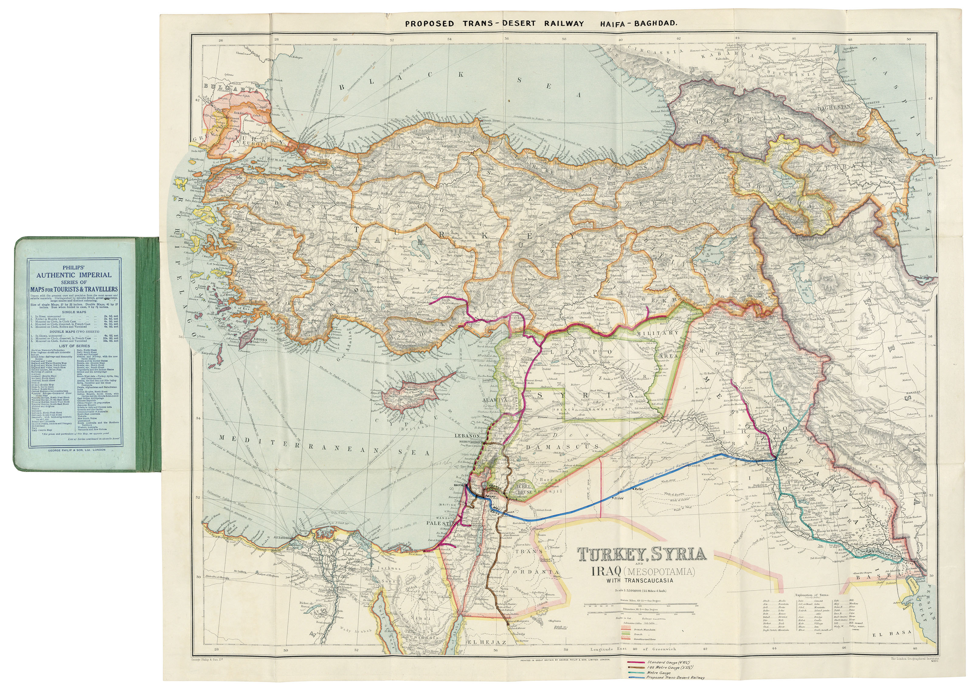 MIDDLE EAST – \'Proposed Trans-Desert Railway Haifa-Baghdad\' [thus ...