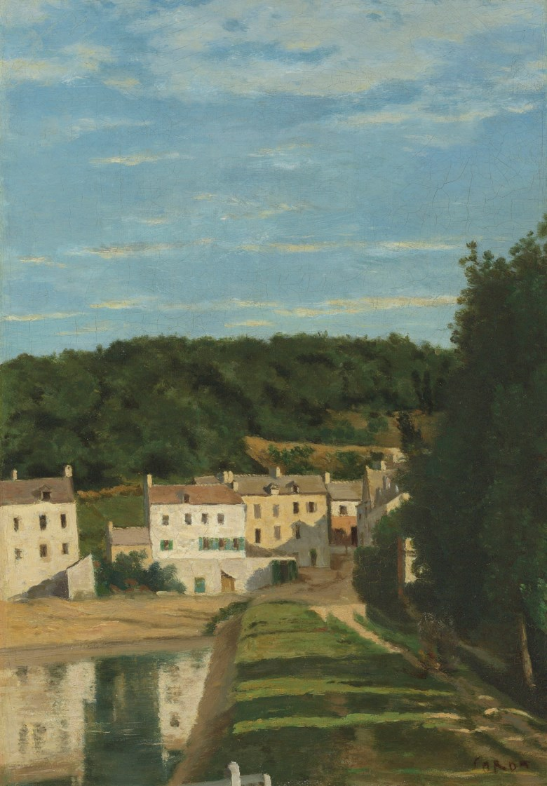 Jean Baptiste Camille Corot (French, 1796-1875), Les Maisons Cabassud à Ville dAvray, 1840-45. Oil on canvas. 17⅝ x 12¼ in (45 x 31.3 cm). Estimate £40,000-60,000. Offered in British & European Art European Art on 11 July 2019 at Christie's in London