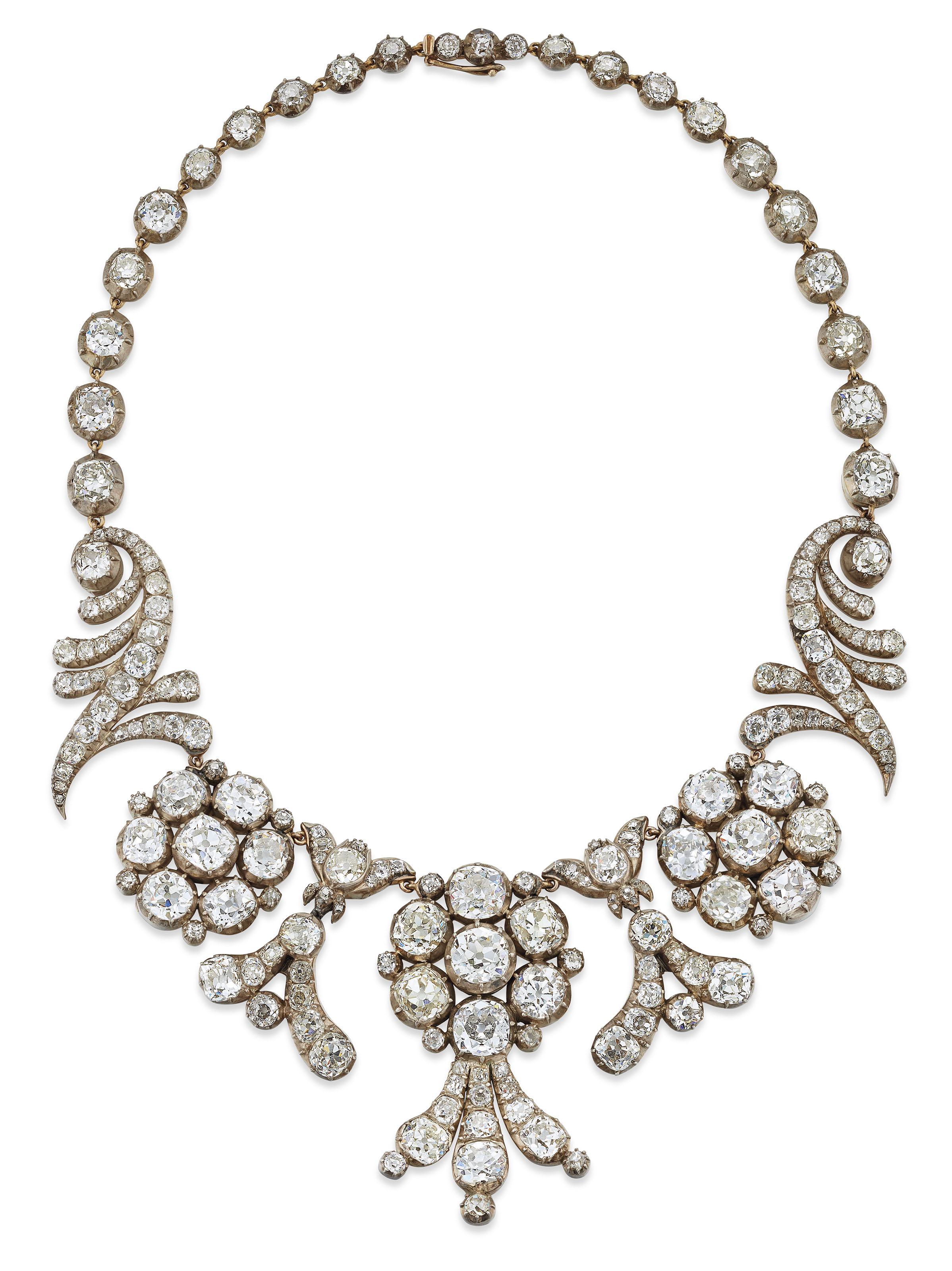 19TH CENTURY DIAMOND TIARA / NECKLACE