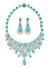 MID-20TH CENTURY TURQUOISE AND