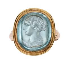 A ROMAN AQUAMARINE RING STONE