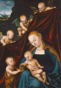 The Virgin and Child with the Infant Saint John the Baptist and Angels