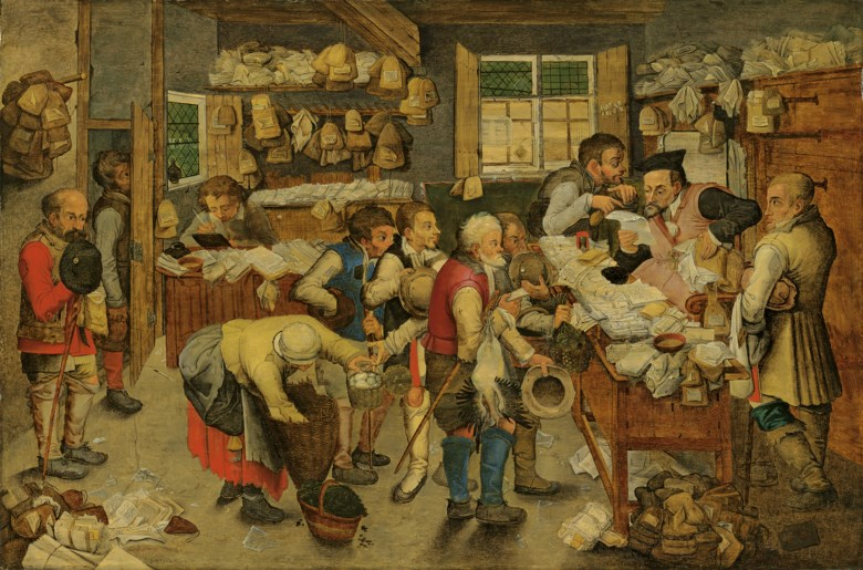 Pieter Brueghel the Younger (15645-16378), The Payment of the Tithes. Oil on panel. 23¼ x 34¼  in (59 x 86.9  cm). Sold for £431,250 in theOld Masters Evening Sale on 3 December 2019 at Christie's in London