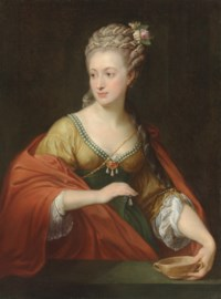 Portrait of a lady, traditionally identified as Alexandra Evichovna Demidov (1745-1778), three-quarter-length, as Cleopatra