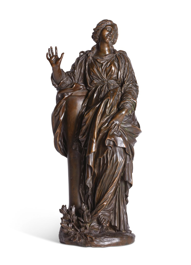 After Gianlorenzo Bernini (1598-1680), Rome, 17th century, Saint Bibiana. 18½  in (47.2  cm) high. Estimate £70,000-100,000. Offered in Old Master Paintings and Sculpture on 4 December 2019 at Christie's in London
