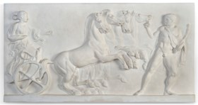A FRENCH PLASTER RELIEF CAST OF A CLASSICAL FRAGMENT
