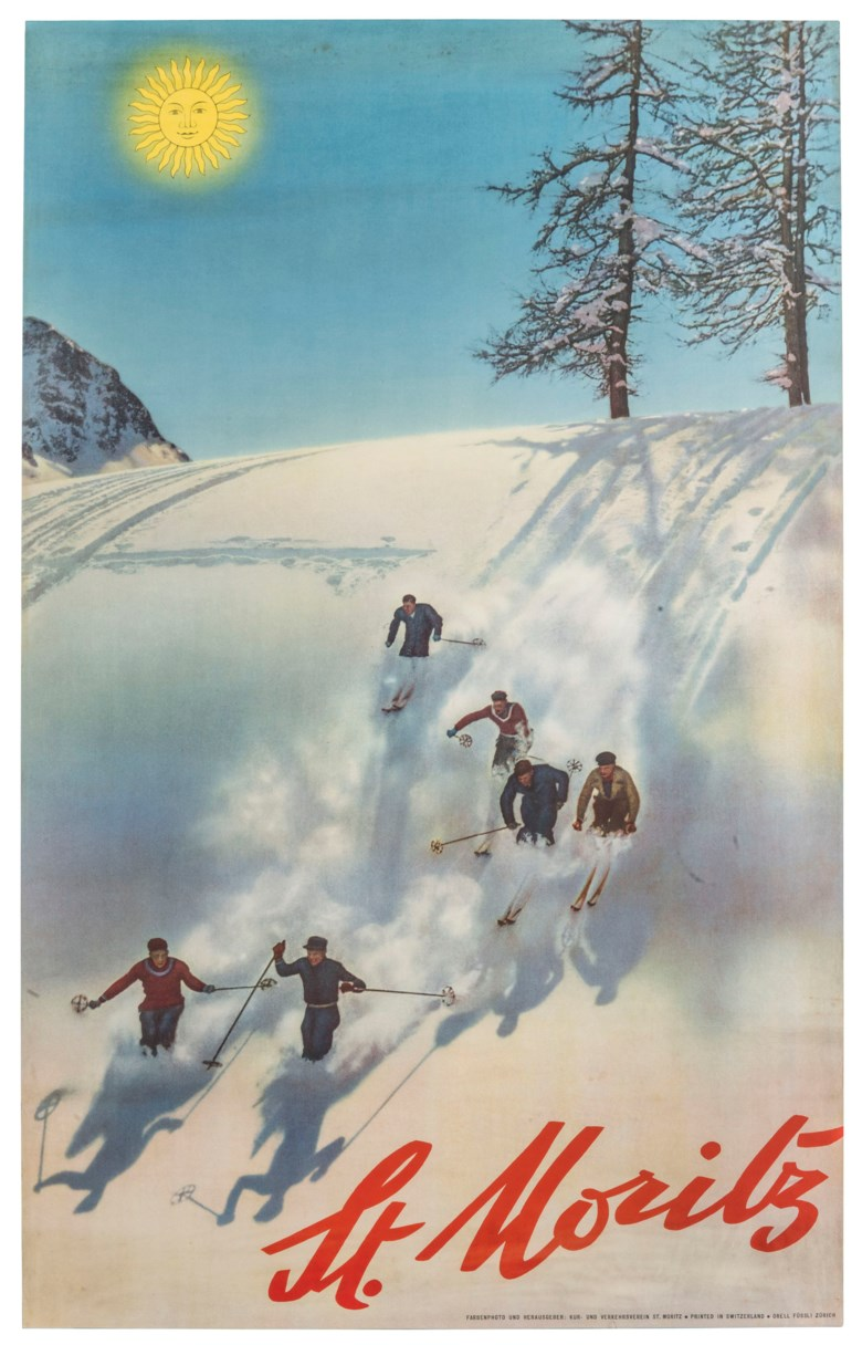 Walter Herdeg (1908-1995), St Moritz. 40 x 25  in (102 x 64  cm). Estimate £10,000-15,000. This lot is offered in Interiors on 29 January 2019 at Christie's in London