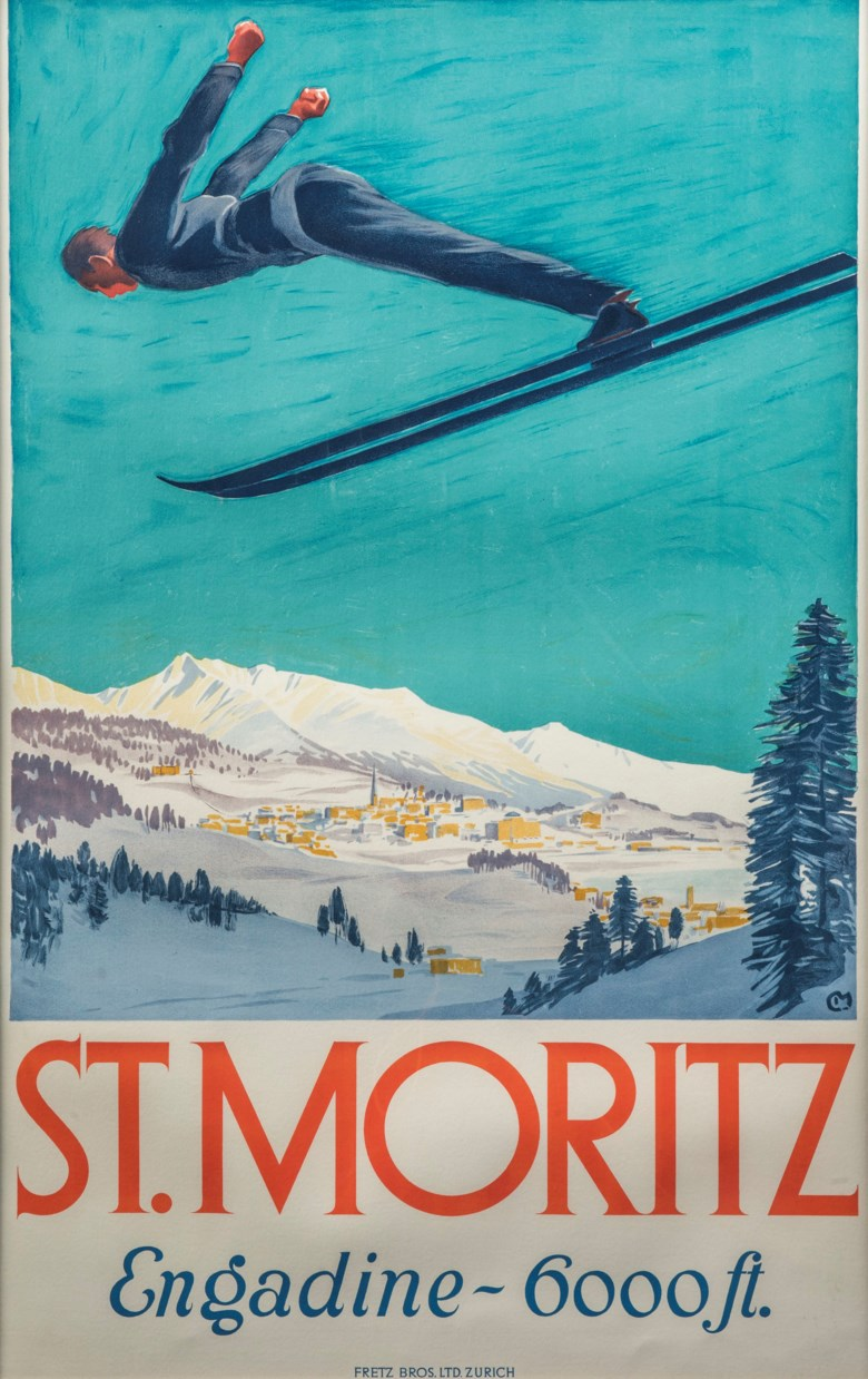 Carl Moos (1878-1959), St Moritz. 40 x 25  in (102 x 64  cm). Estimate £20,000-25,000. This lot is offered in Interiors on 29 January 2019 at Christie's in London