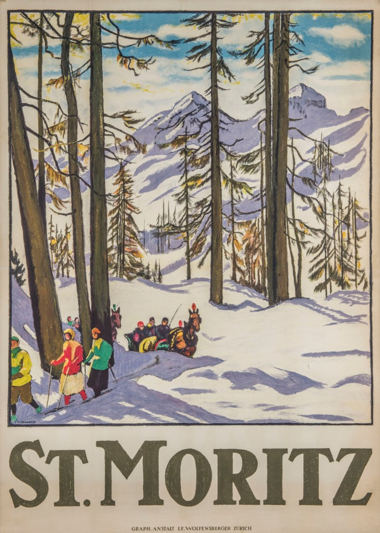 Emil Cardinaux (1877-1936), St Moritz. 50 x 36  in (128 x 91 cm). Estimate £15,000-20,000. This lot is offered in Interiors on 29 January 2019 at Christie's in London