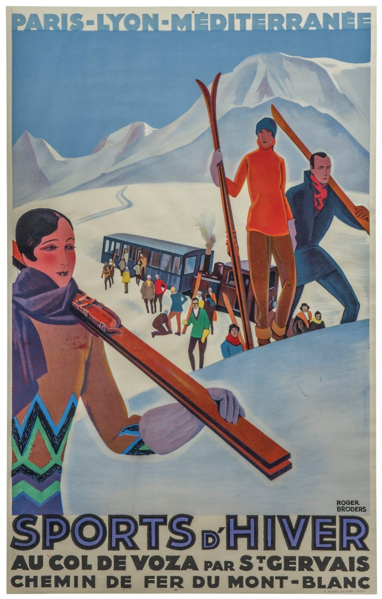 Roger Broders (1883-1953), Sports dHiver. 39½ x 25  in (102 x 64  cm). Estimate £7,000-9,000. This lot is offered in Interiors on 29 January 2019 at Christie's in London